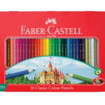 36 ct Classic Colored Pencil Tin Set, Graphite Writing Pencil